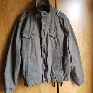 Levi's Olive Green Military Style Bomber Jacket XL